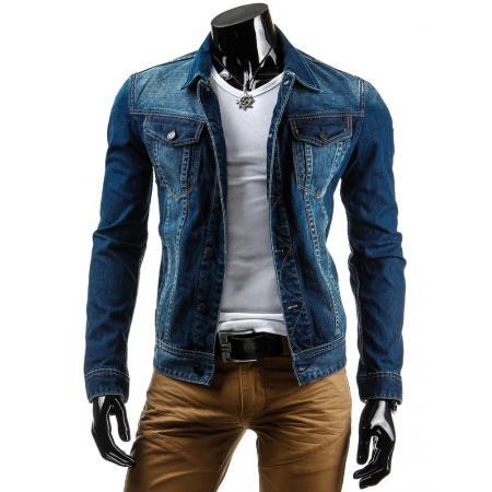 Pánská stylová jeansová (džínová) moderní bunda