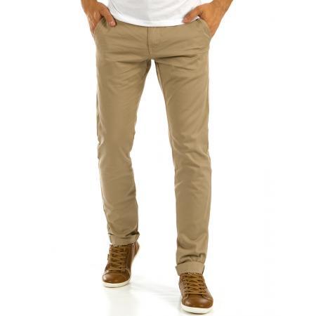 Pánské chino kalhoty béžové 6738ae9cbd