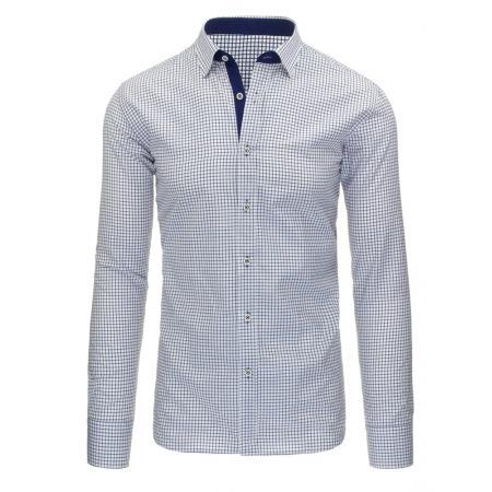 Bílá pánská košile kostkovaná