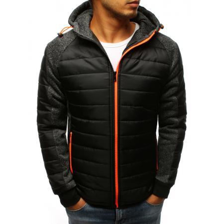 d722055d9700 Pánská STYLE bunda přechodová s kapucí černá
