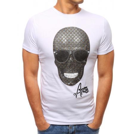 Pánské moderní tričko s potiskem bílé ec32ddeb39