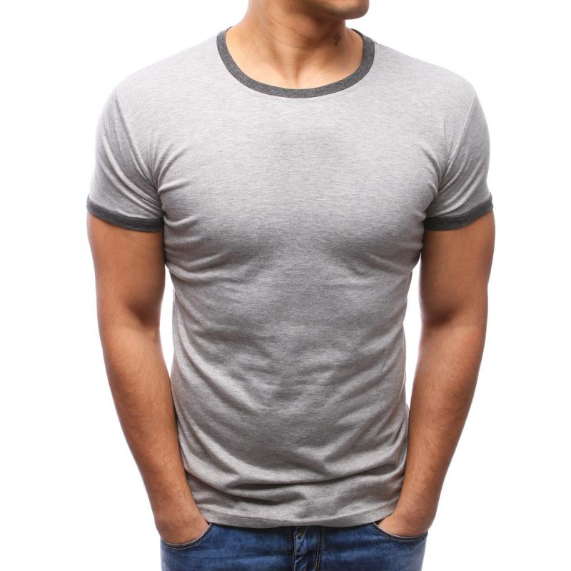 ace450e2effe Pánské tričko slim fit šedé