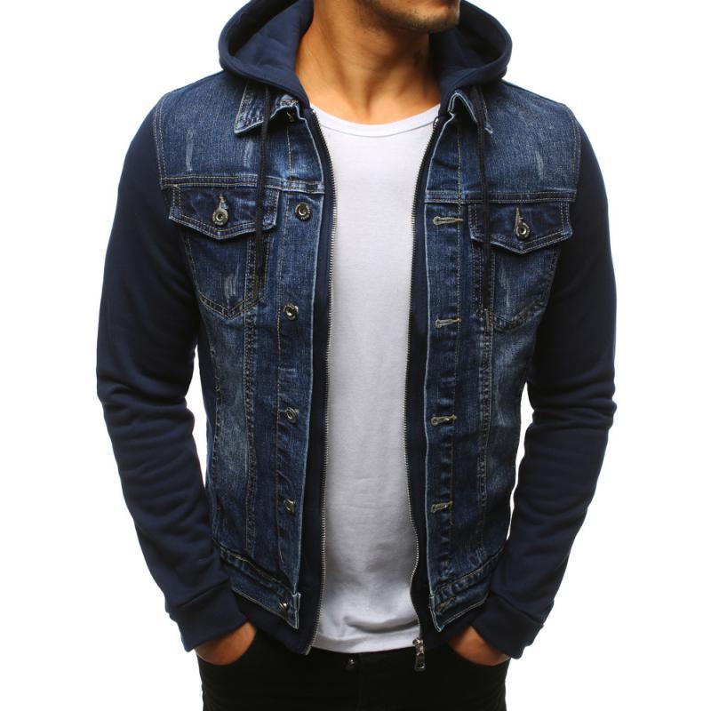 0bc45b5b1e6 Pánská džínová bunda modrá