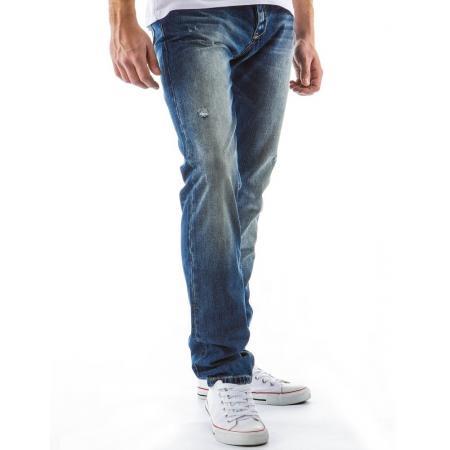 Pánské džíny - kalhoty s efektem ošoupání