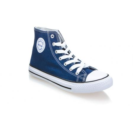 Pánské modré kotníkové plátěné boty (tenisky) MSTR CQ-1401