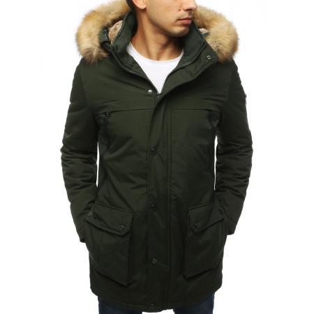 Pánská bunda parka zimní khaki TX3058