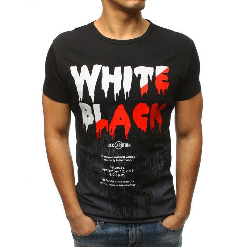 Pánské stylové tričko s potiskem černé  dc187bcde2
