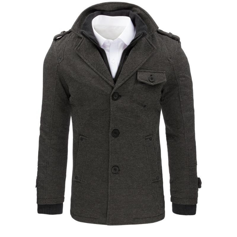 e6aa9e1992a9 Pánský šedý kabát