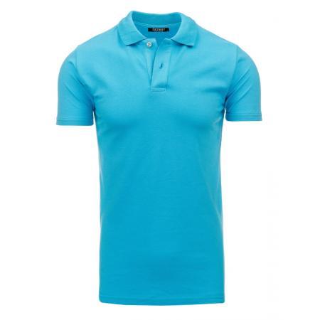 Pánské tyrkysové tričko s límečkem