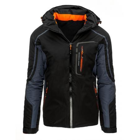Pánská stylová bunda zimní černá