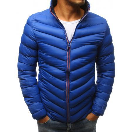 Pánská zimní prošívaná bunda modrá