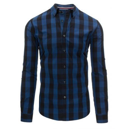 Světle modrá pánská košile kostkovaná