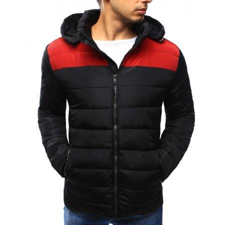 Pánská bunda zimní prošívaná černá