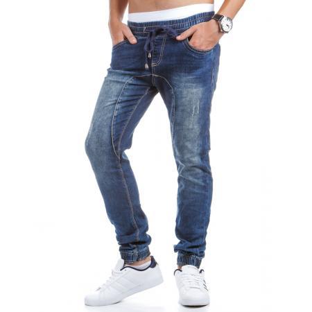 Stylové pánské jeansové sportovní kalhoty