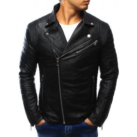 Pánská kožená bunda černá