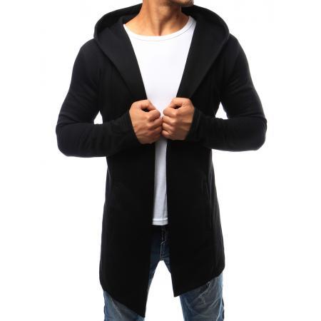Pánská mikina přes hlavu s kapucí černá