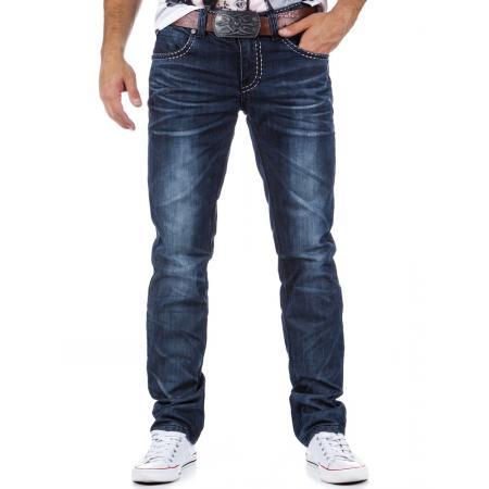 Stylové pánské jeansy tmavě modré