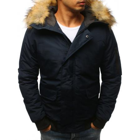 Pánska zimní modrá bunda