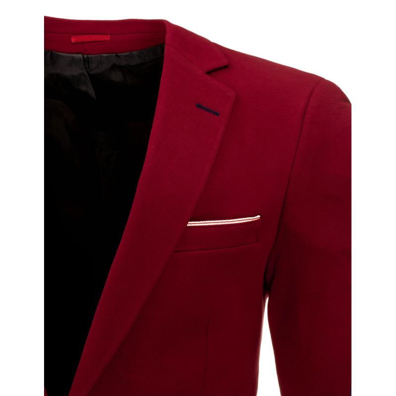 Stylové pánské sako bordó (červené)  a3c40666b6