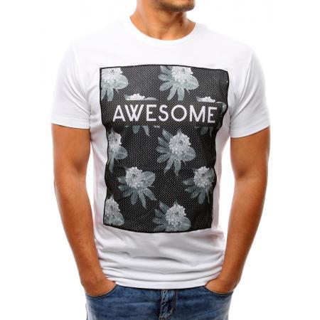 33d3a6be22c Pánské tričko s potiskem (triko) bílé