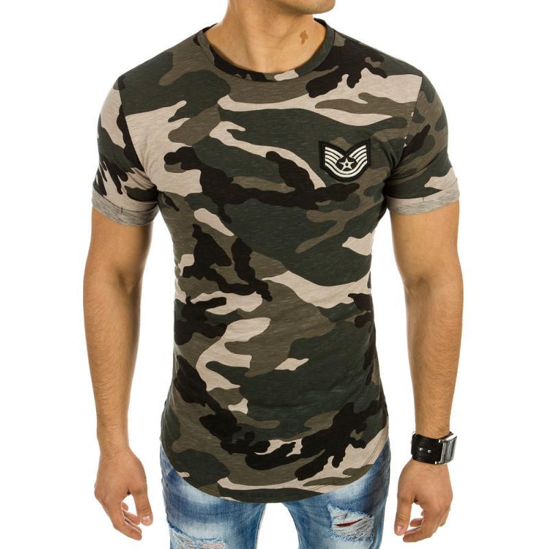 08f62f7405d7 Pánská stylové tričko s maskáčovým vzorem
