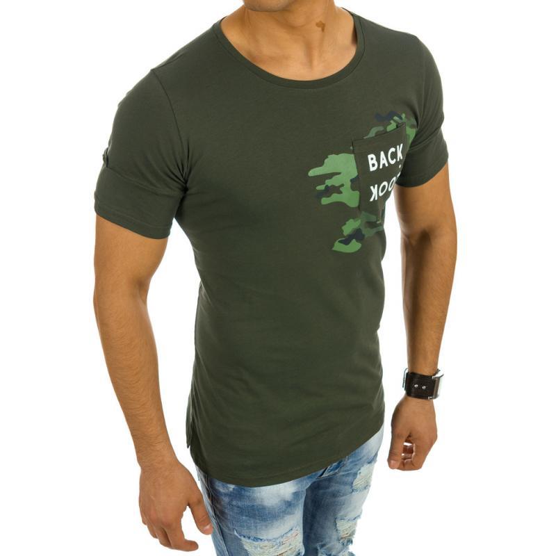 Pánské tričko s potiskem zelené  4502abfb01