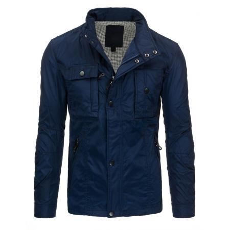 Pánská moderní modrá bunda