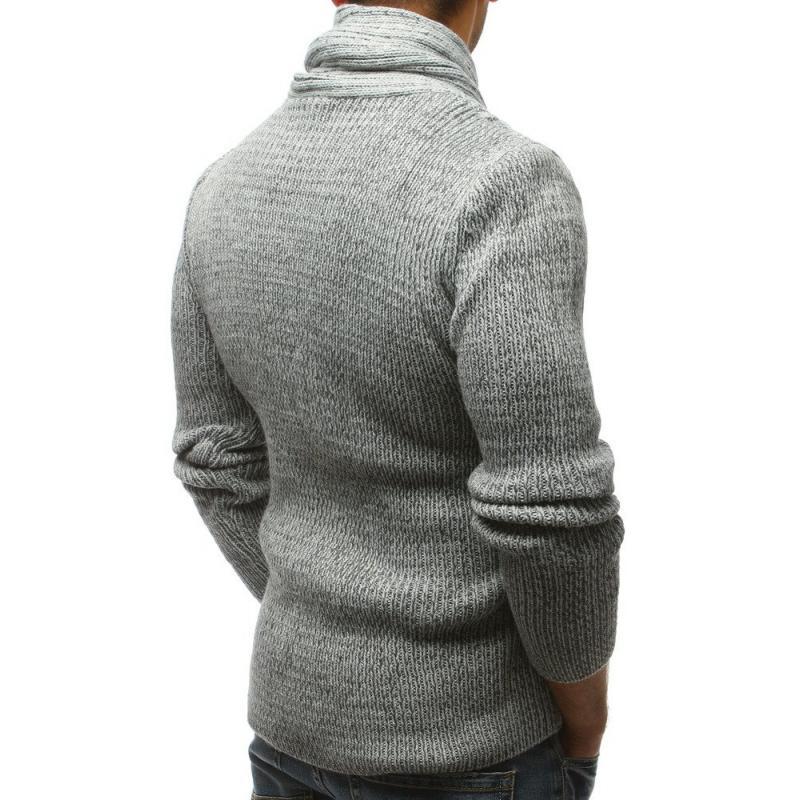 Pánský svetr šedý STYLE ae0e2a3a99