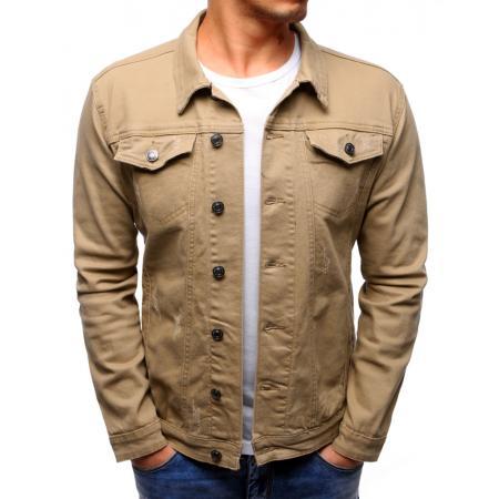 Pánská bunda džínová béžová