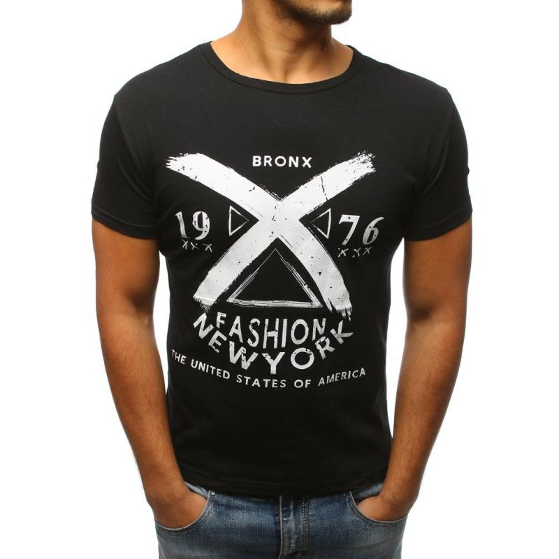 da7f60a898ea Pánská MODERN tričko s potiskem černé