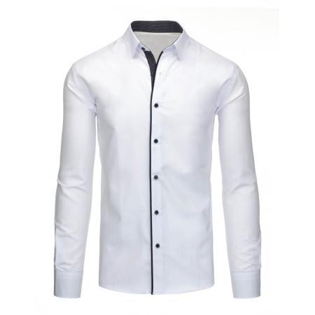 Pánská stylová společenská košile bílá