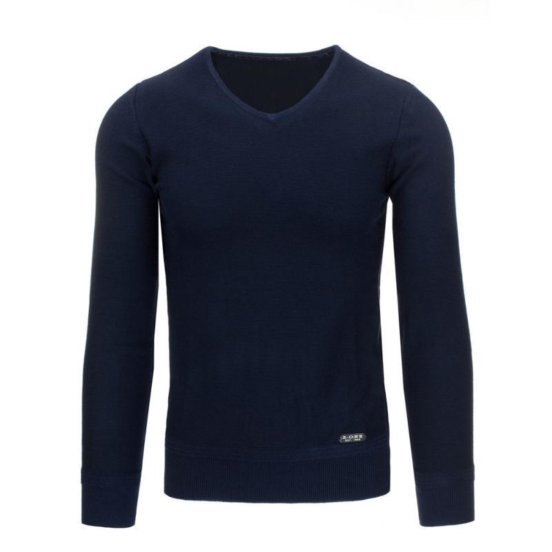 Módní pánský svetr do v modrý  064476f496
