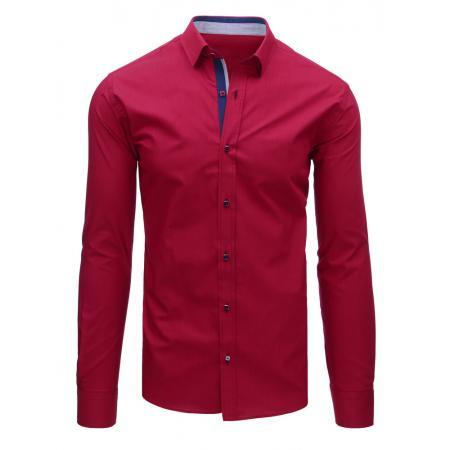Elegantní pánská košile bordó s dlouhým rukávem