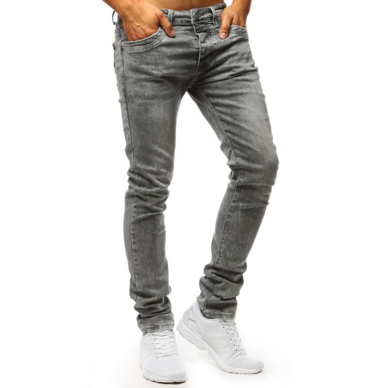 Pánské jeans kalhoty STYLE šedé  33af63ccab
