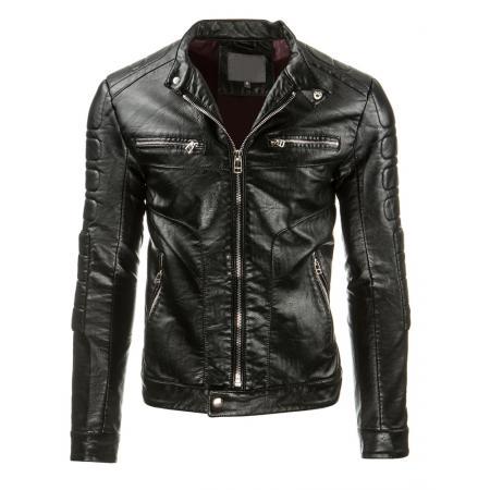 Pánská černá kožená bunda