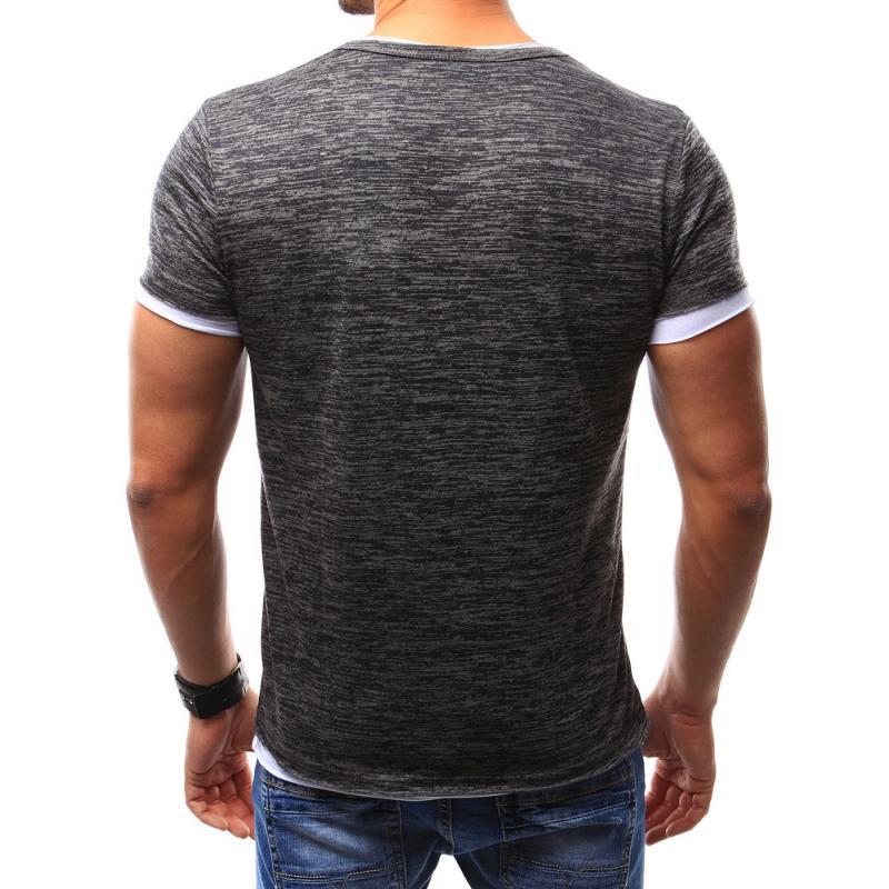 51b5b02c3e9 Pánské tričko bez potisku grafitová