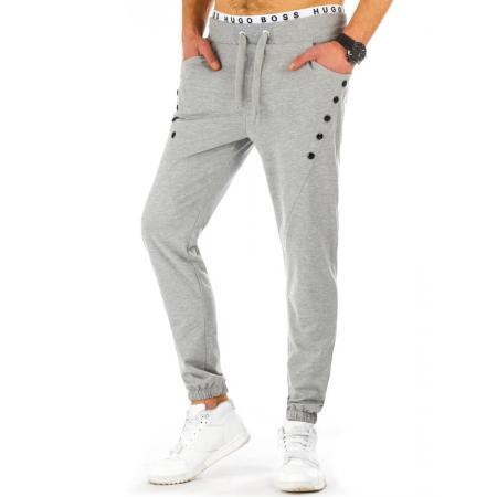 Pánské teplákové kalhoty baggy šedé