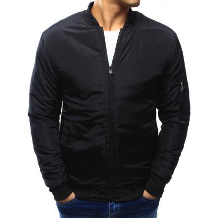 Pánská bunda bomber jacket černá d56c4bf67bc