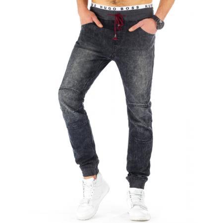 Pánské jogger kalhoty jeansové černé