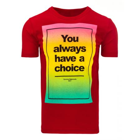 Pánské tričko s potiskem (triko) červené