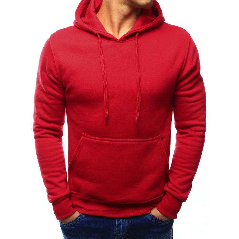 999221c138 Pánská mikina s kapucí červená