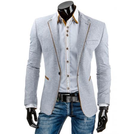 Pánské elegantní sako šedé