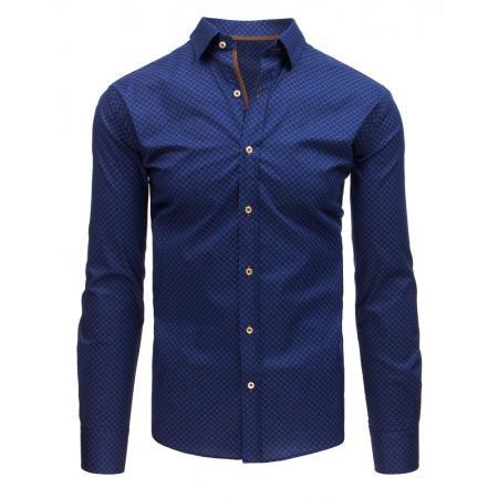 41d0c90dd4f Pánská STYLE košile elegantní se vzory tmavě modrá