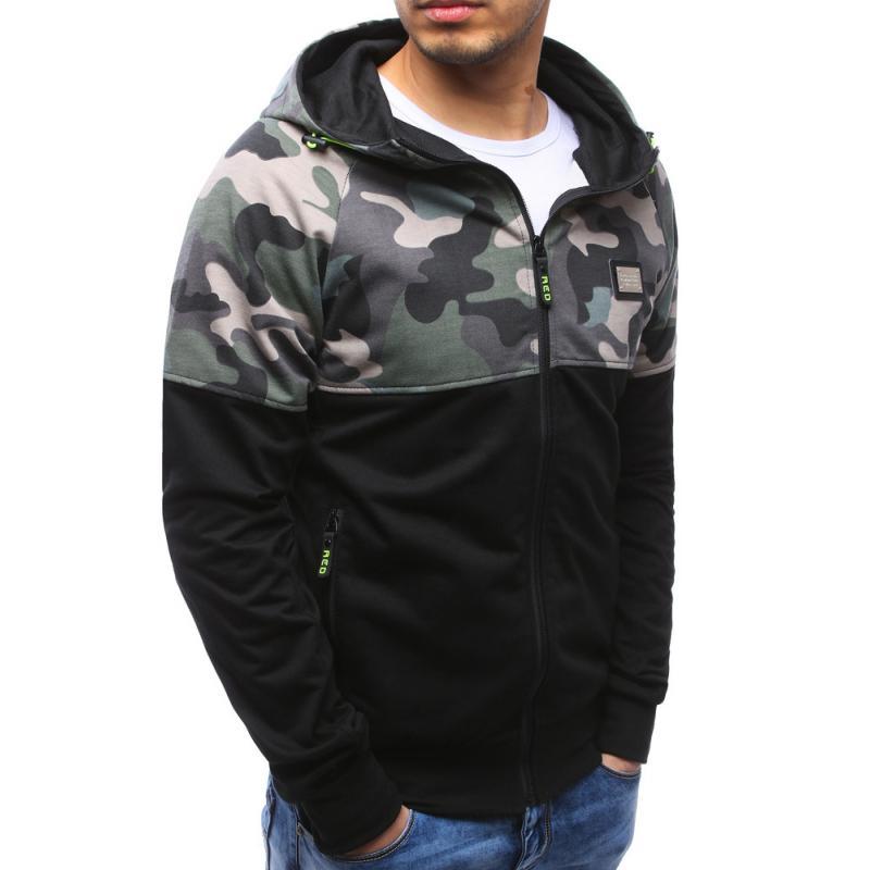 Pánská mikina se zipem s kapucí černá  75d5ab36d1