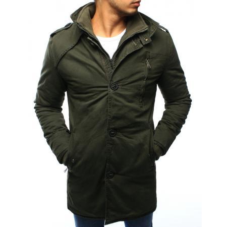 Pánská parka bunda zimní khaki