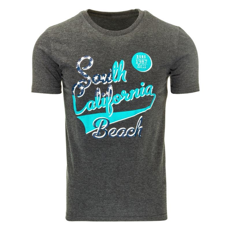 0d0a940a934 Pánské tričko s potiskem (triko) antracitové