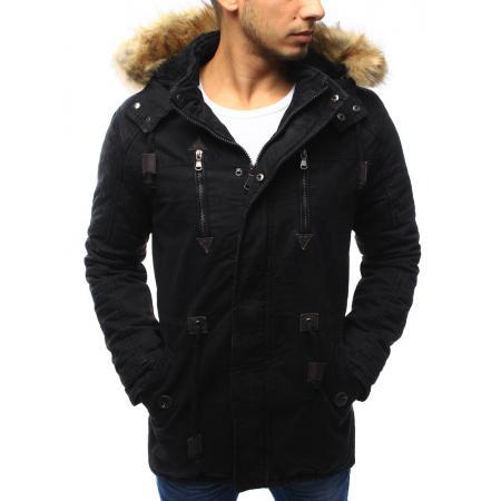 Pánská bunda parka zimní černá