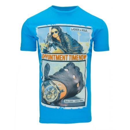 Pánské tričko s potiskem (triko) tyrkysové