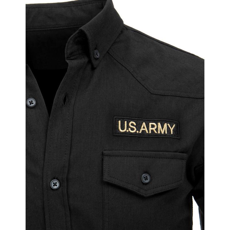 e79b250971 Pánská černá košile | manSTYLE.cz