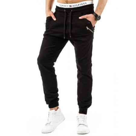 Pánské stylové kalhoty černé